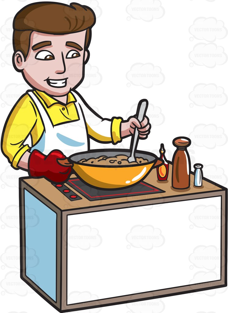 Home cooked meal clipart picture transparent download A happy man making a home cooked meal » Clipart Station picture transparent download