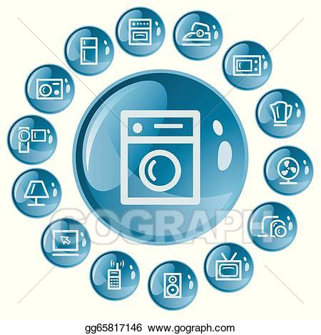 Home electronics clipart jpg Vector Art - Home electronics buttons. Clipart Drawing gg65817146 ... jpg