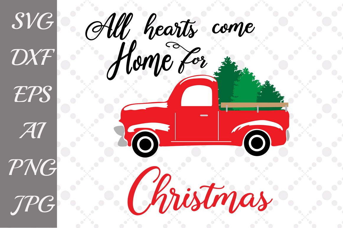 Home for christmas clipart graphic library download All Hearts Come Home For Christmas SVG graphic library download