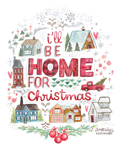Home for christmas clipart vector royalty free library I\'ll Be Home for Christmas copy.jpg vector royalty free library