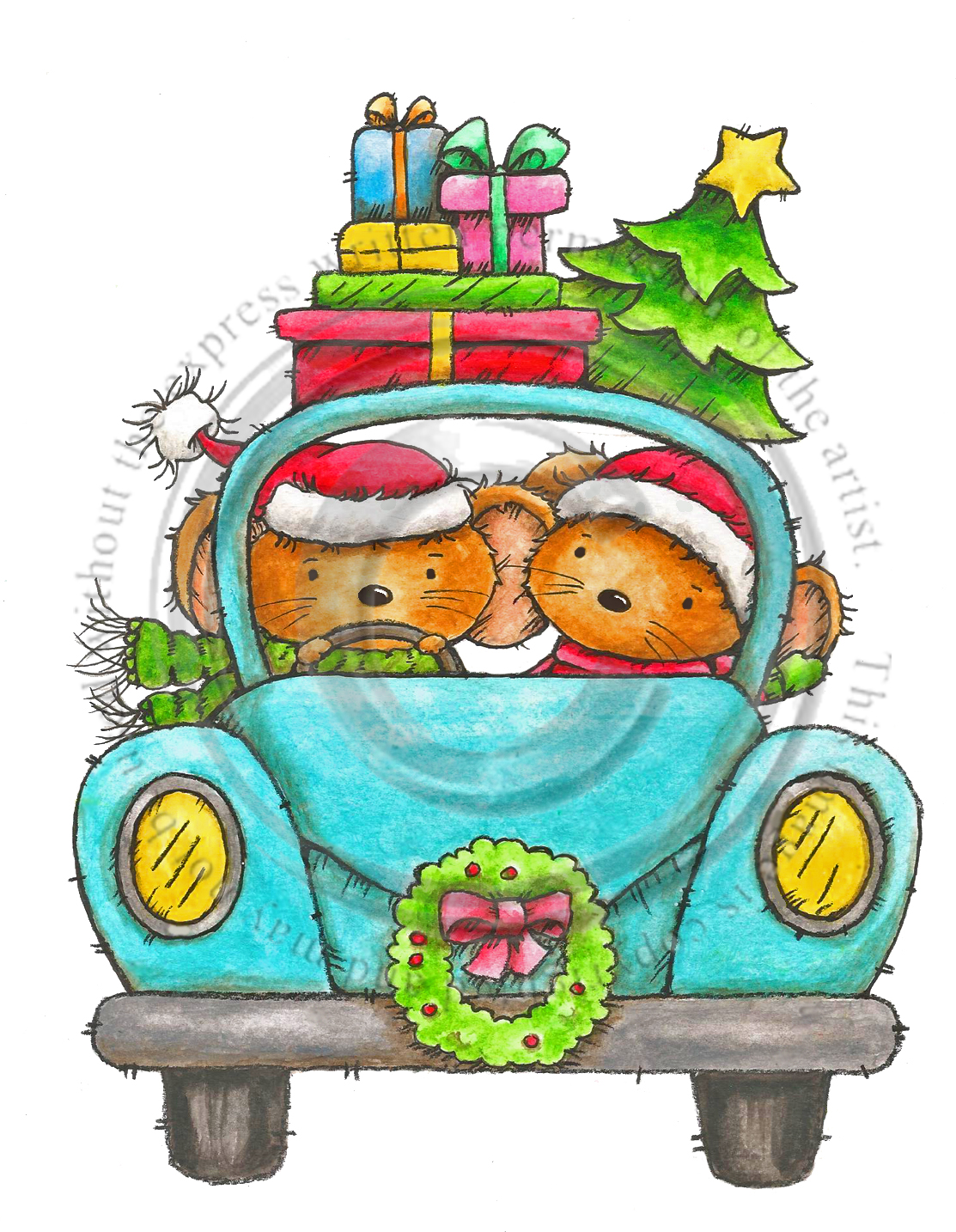 Home for christmas clipart clipart free stock Driving Home for Christmas col clipart free stock