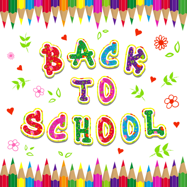 School clipart free download image freeuse stock Back to School Colorful PNG Clipart Picture | Gallery Yopriceville ... image freeuse stock