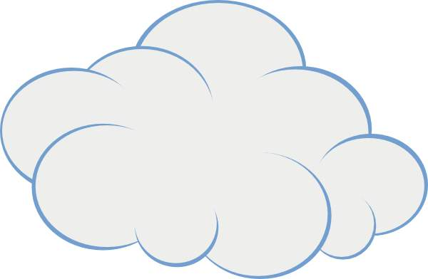 Home in the clouds clipart black and white vector transparent Cloud clip art for free clipart images - Clipartix vector transparent