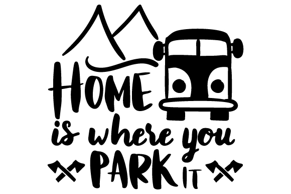 Home is where you park it clipart image black and white download Aussies Guide to Touring Europe with a Motorhome/Camper ... image black and white download