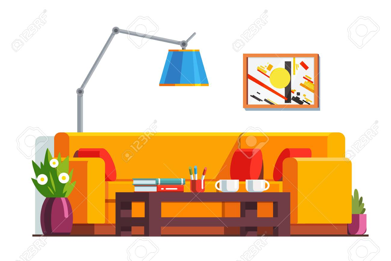 Waiting room clipart clip freeuse library Office waiting room or home living room interior » Clipart Station clip freeuse library