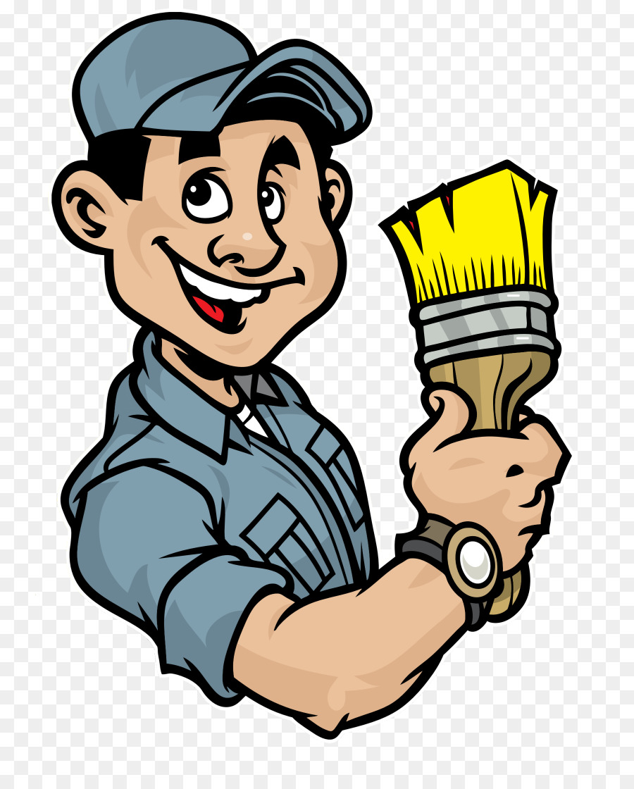 Home painter clipart png clip art free download Painting Cartoon png download - 800*1117 - Free Transparent Pintura ... clip art free download