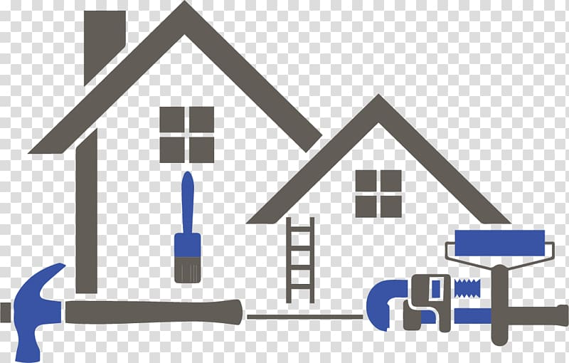 Home painter clipart png png freeuse Gray and blue house illustration, Home improvement House painter and ... png freeuse