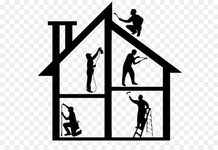 Home repair clipart image black and white House Logo clipart - House, Paint, Text, transparent clip art image black and white