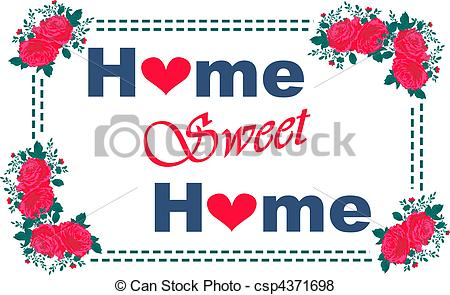 Home sweet home clip art svg black and white library Home sweet home Clipart and Stock Illustrations. 8,545 Home sweet ... svg black and white library