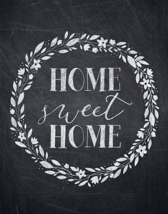 Home sweet home clipart black and white png library stock 17 Best images about HOME SWEET HOME ☆ on Pinterest | Chalkboard ... png library stock