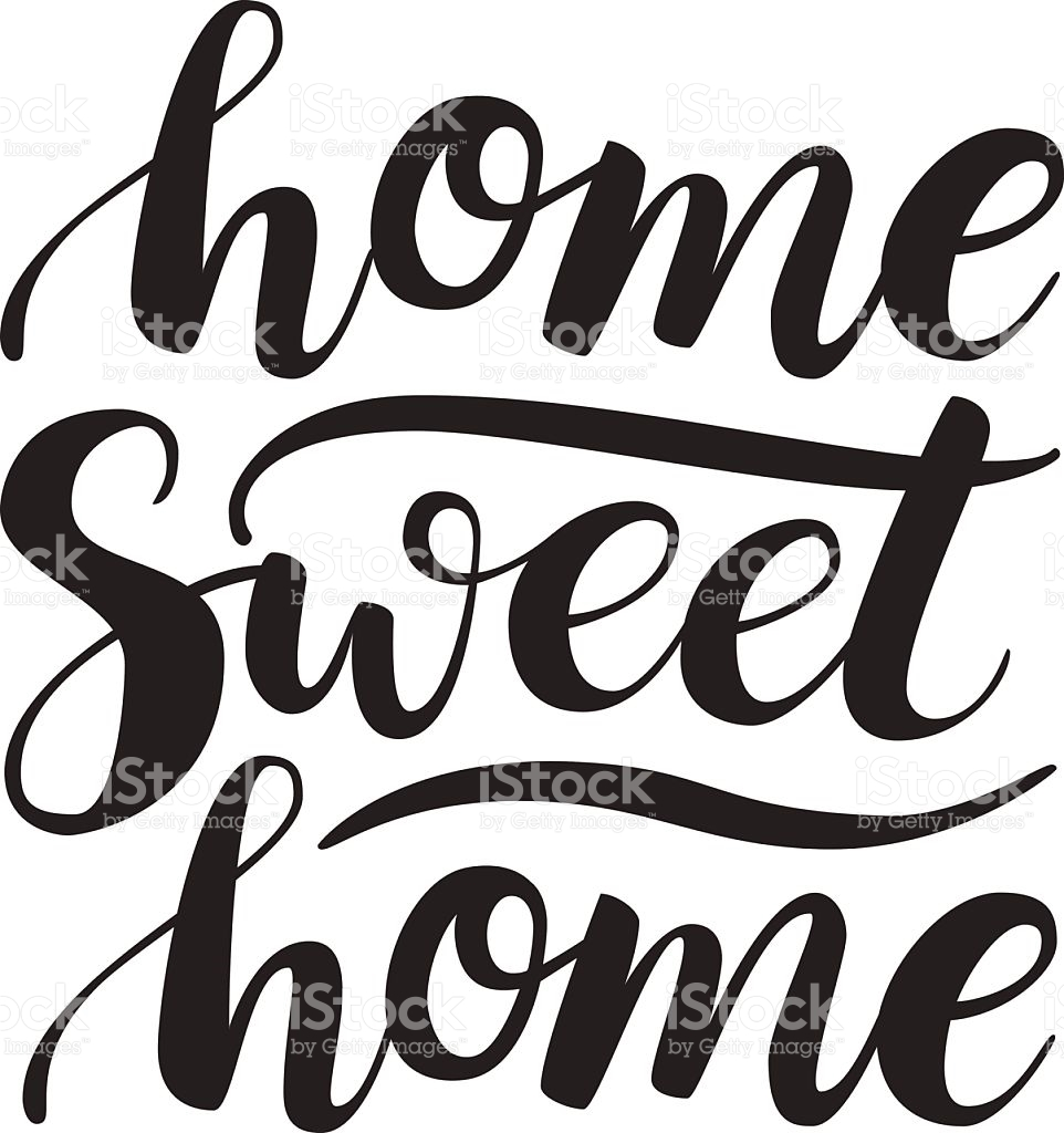Home sweet home clipart black and white vector freeuse Home Sweet Home Clip Art – Clipart Free Download vector freeuse