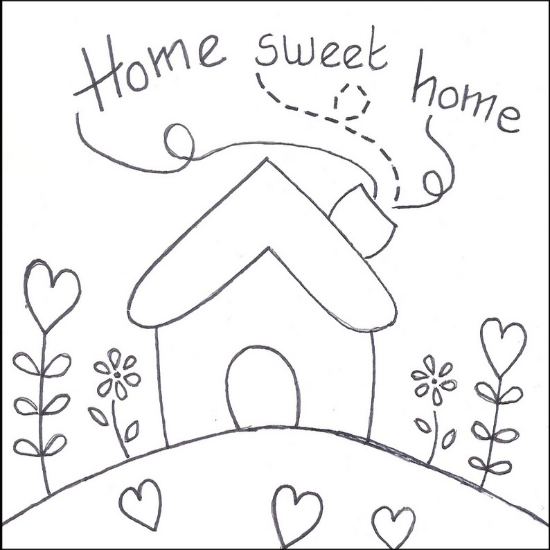 Home sweet home clipart black and white clipart royalty free download 17 Best images about Home Sweet Home - Scritta on Pinterest clipart royalty free download