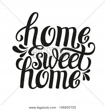 Home sweet home clipart black and white png free download Home Sweet Home Vectors, Stock Photos & Illustrations | Bigstock png free download