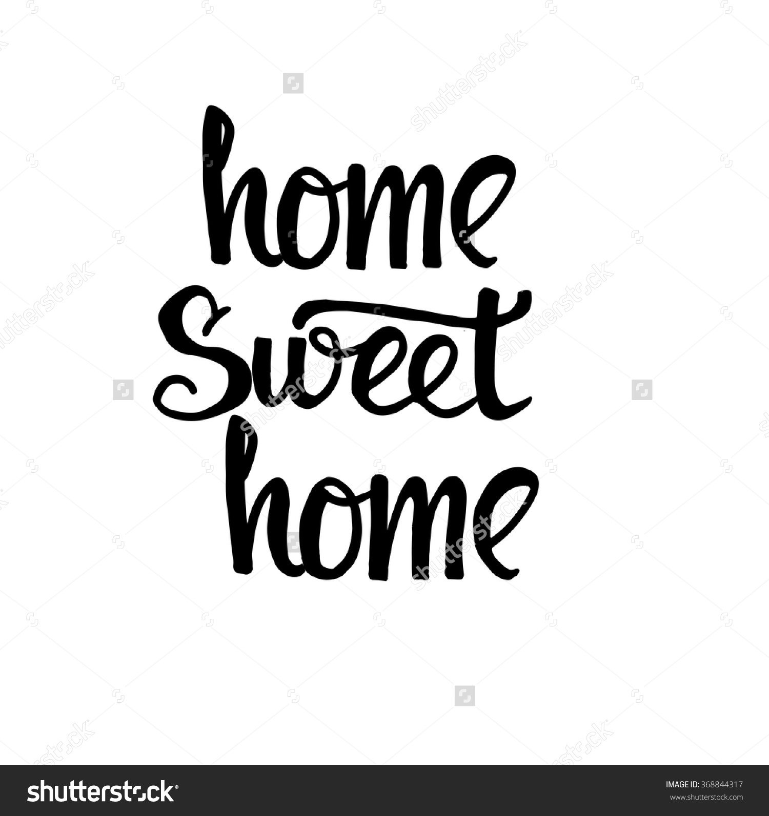 Home sweet home clipart black and white banner stock Home Sweet Home Card Hand Drawn Stock Vector 368844317 - Shutterstock banner stock