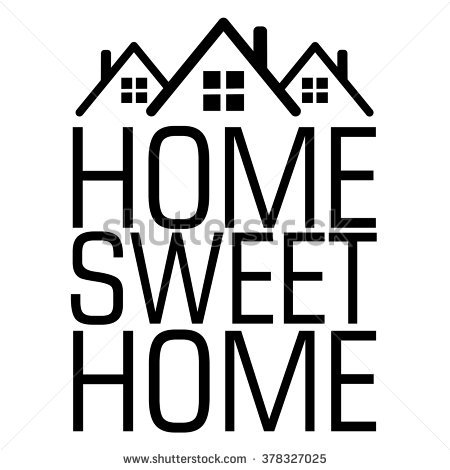 Home sweet home clipart black and white clip Image Gallery of Home Sweet Home Vector clip