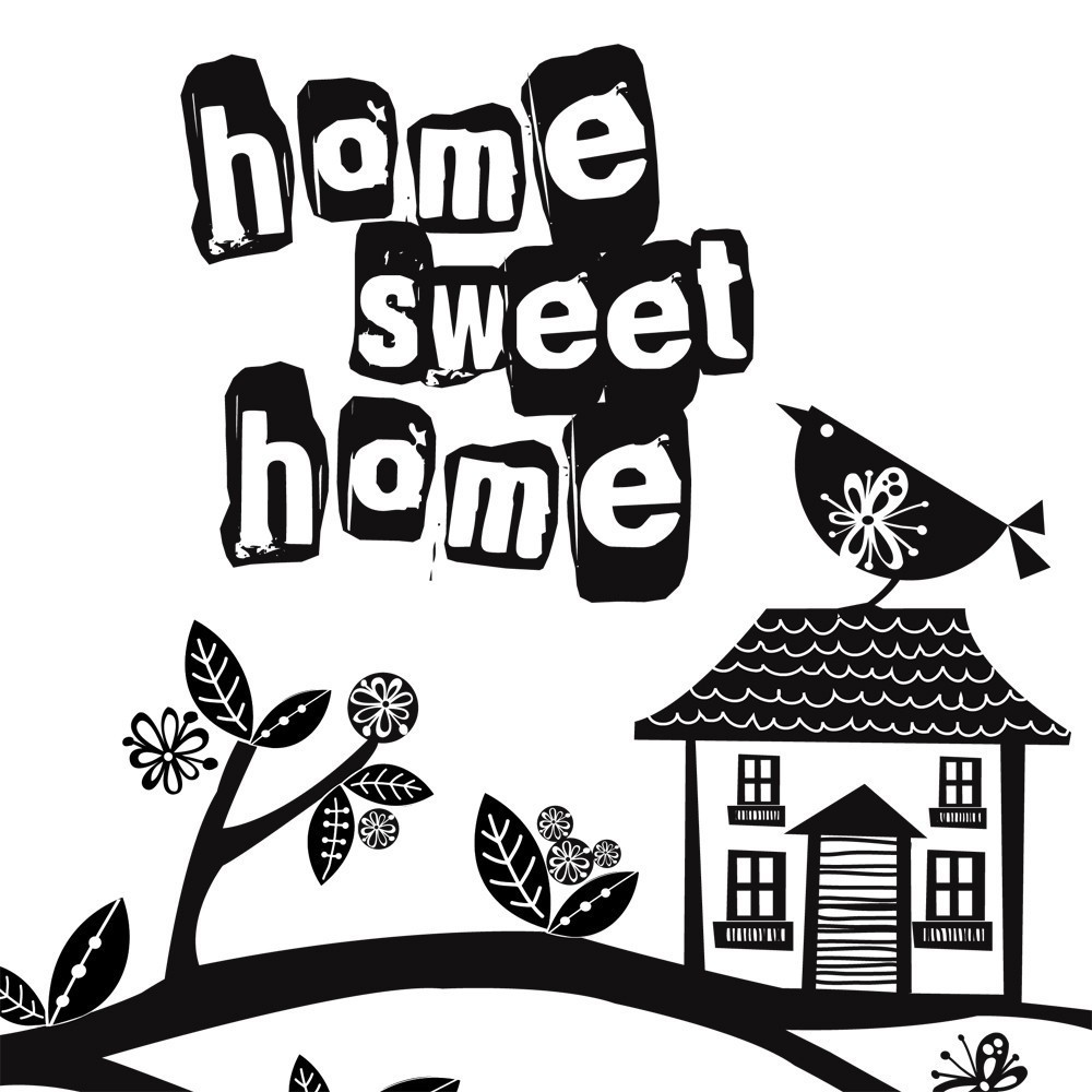 Home sweet home clipart black and white jpg library stock Home sweet home clipart black and white - ClipartFox jpg library stock