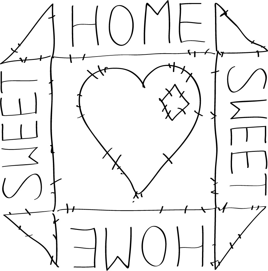 Home sweet home clipart black and white clip art transparent download My home clipart black and white - ClipartFest clip art transparent download