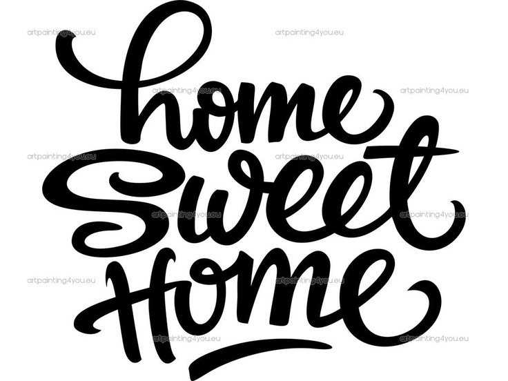 Home sweet home clipart black and white jpg royalty free 17 Best images about Transzfer 13 home sweet home on Pinterest ... jpg royalty free