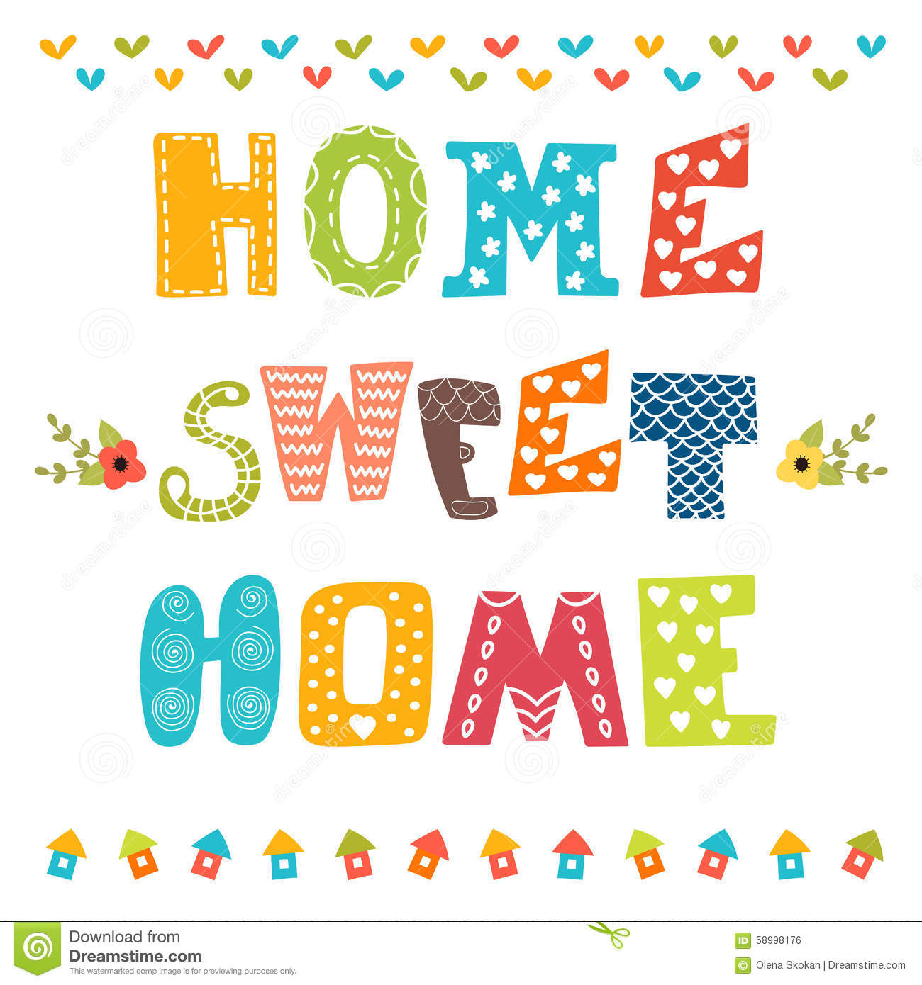 Home sweet home clipart free clipart royalty free download Home Sweet Home Stock Illustrations – 8,813 Home Sweet Home Stock ... clipart royalty free download