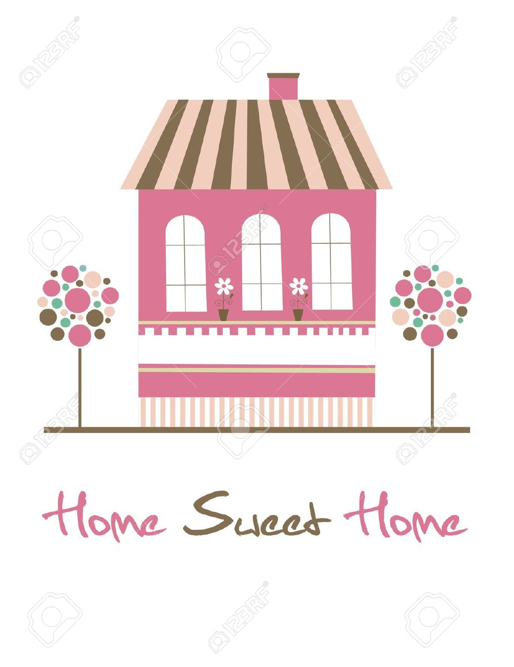 Home sweet home clipart house png free download Home Sweet Home Card Illustration Royalty Free Cliparts, Vectors ... png free download