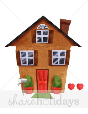 Home sweet home clipart house picture black and white download Home Sweet Home Clipart | Party Clipart & Backgrounds picture black and white download