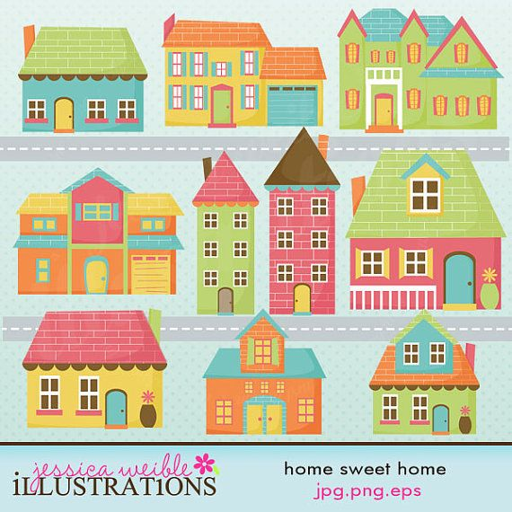 Home sweet home clipart house graphic 17 Best images about Home Sweet Home Signs and illustrations on ... graphic