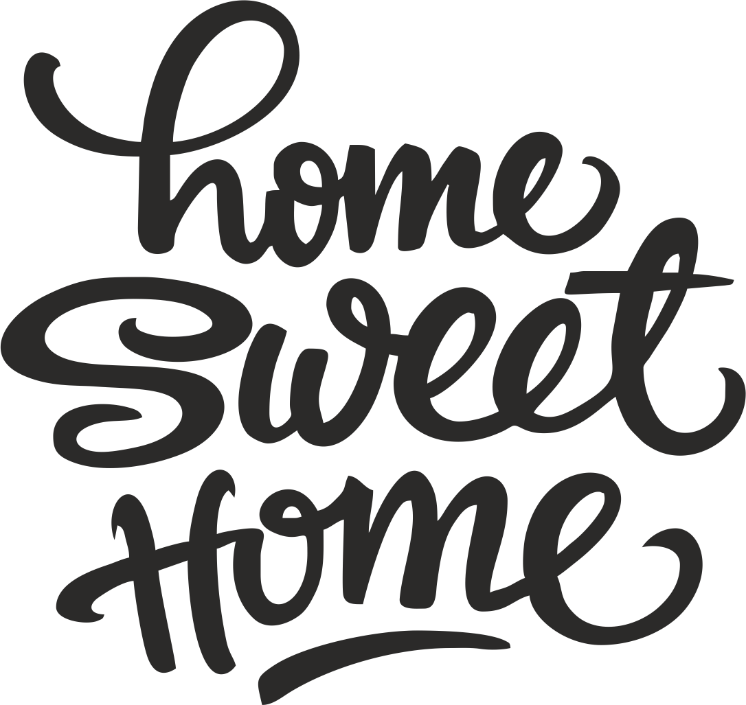 Home sweet home clipart pictures clip art transparent Home sweet home vägg dekal - Hemdeko clip art transparent