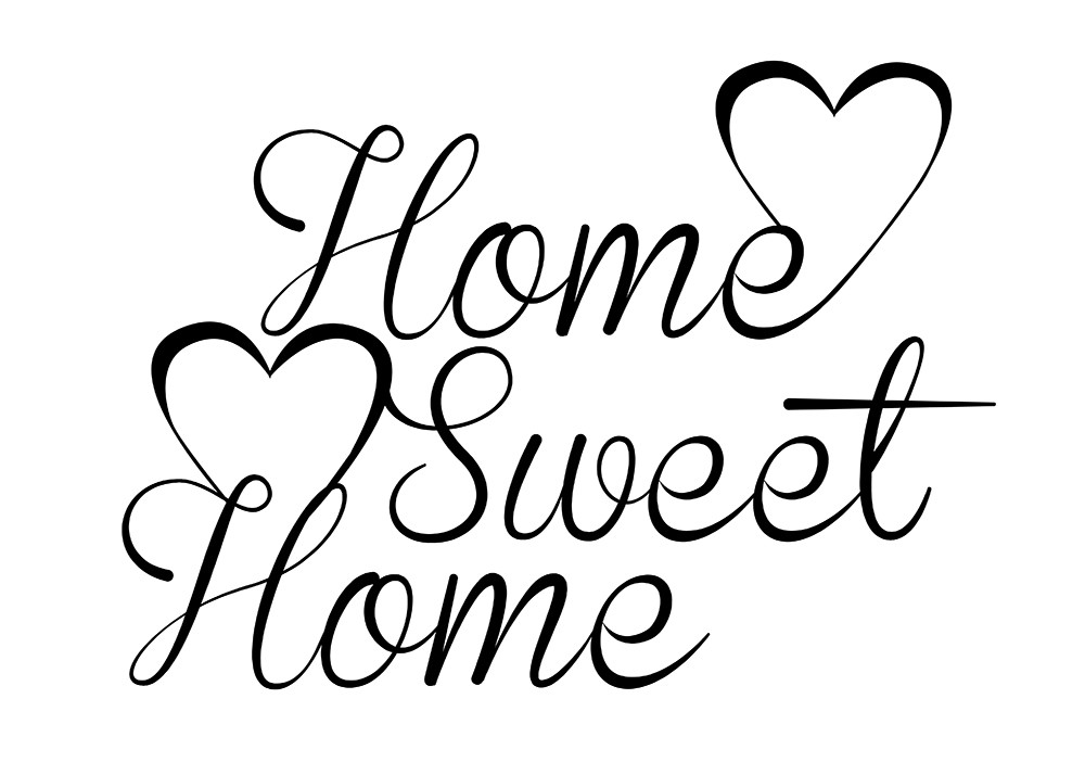 Home sweet home clipart pictures banner stock Home sweet home clipart black and white - ClipartFest banner stock