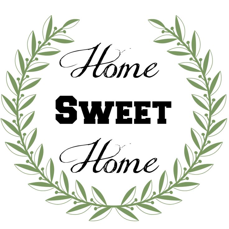 Home sweet home clipart png png black and white 17 Best images about Home Sweet Home on Pinterest | Folk art ... png black and white