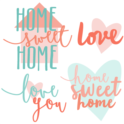 Home sweet home clipart png clip art transparent Home Sweet Home Titles SVG scrapbook cut file cute clipart files ... clip art transparent