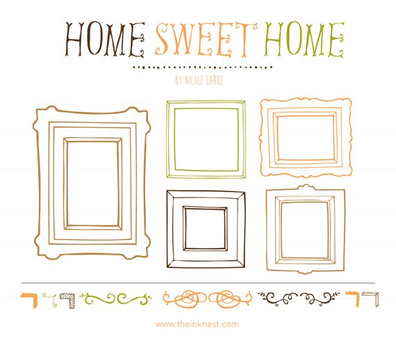 Home sweet home clipart png image free Home Sweet Home | The Ink Nest image free
