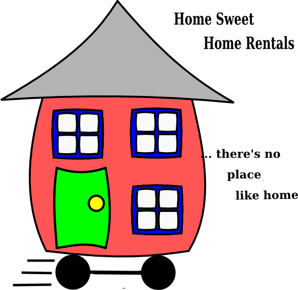Rental house clipart jpg royalty free library Home Sweet Home Clip Art at Clker.com - vector clip art online ... jpg royalty free library