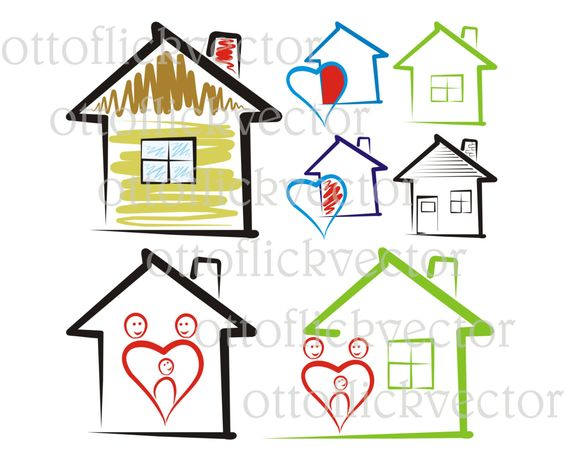 Home sweet home clipart png clip library stock SWEET HOME VECTOR clipart, house silhouettes icon eps, ai, cdr ... clip library stock