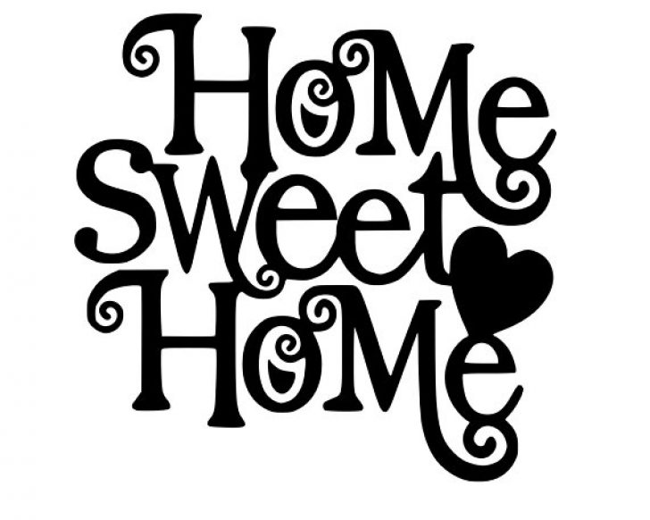 Home sweet home clipart white vector royalty free home sweet home clip art sayings | www.thelockinmovie.com vector royalty free