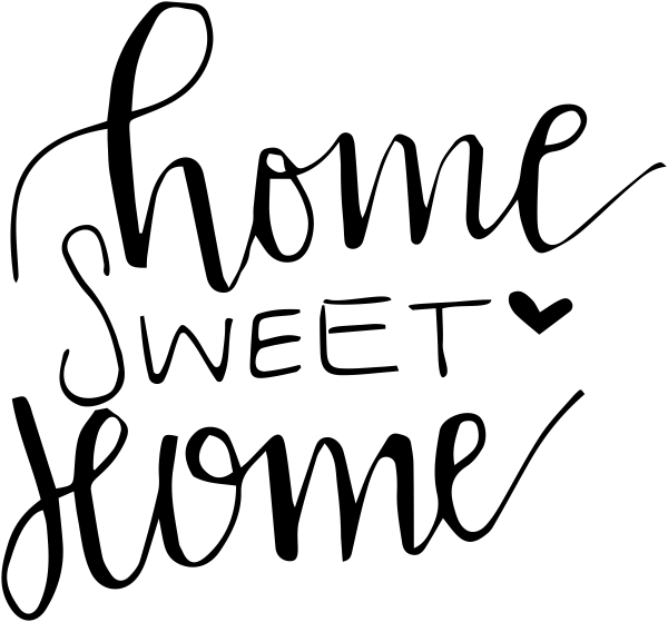Home sweet home clipart white picture black and white Home Sweet Home Stamp picture black and white