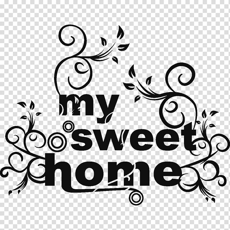 Home sweet home clipart with clear background vector free Wall decal Home Sticker House, Home Sweet Home transparent ... vector free
