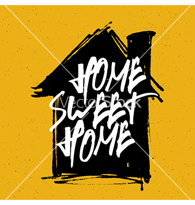 Home sweet home house silhouette clipart graphic stock Home sweet home on house silhouette vector by pashabo - Image ... graphic stock
