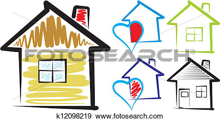 Home sweet home house silhouette clipart clip transparent download Clip Art of home, sweet home - silhouette k12098219 - Search ... clip transparent download