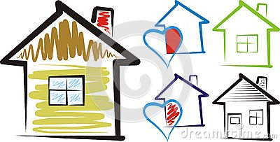Home sweet home house silhouette clipart jpg black and white library Home, Sweet Home - Silhouette Stock Photos - Image: 28315313 jpg black and white library