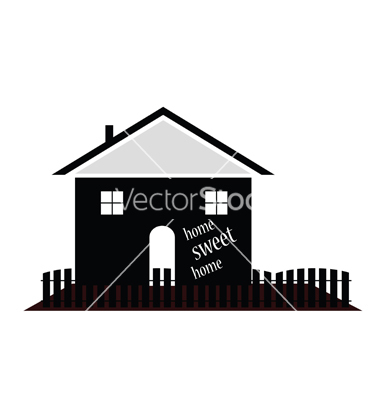 Home sweet home house silhouette clipart banner royalty free stock Home sweet home silhouette vector by drgaga - Image #5204808 ... banner royalty free stock