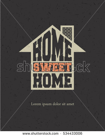 Home sweet home house silhouette clipart jpg freeuse stock Retro Letters Home Sweet Home Frame Stock Vector 200950973 ... jpg freeuse stock