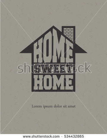 Home sweet home house silhouette clipart svg free stock Retro Letters Home Sweet Home Frame Stock Vector 367742294 ... svg free stock
