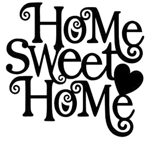 Home sweet home house silhouette clipart picture black and white stock Home sweet home house silhouette clipart - ClipartFox picture black and white stock