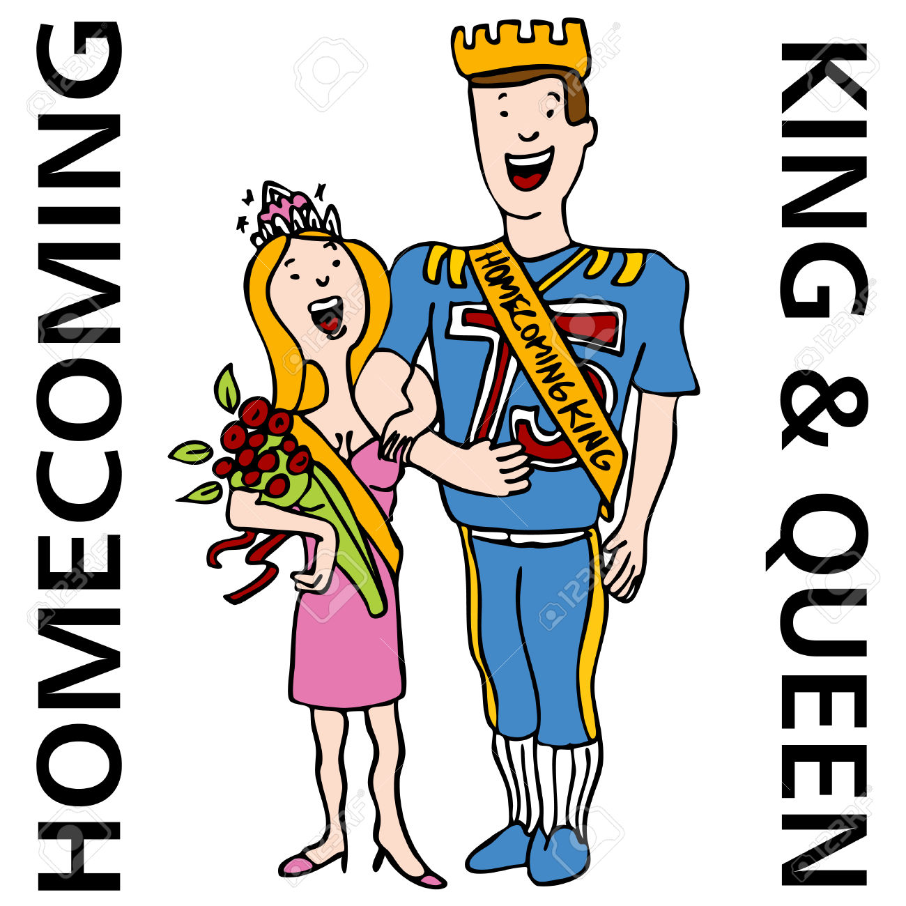 Homecoming king crown clipart png free stock An Image Of The Homecoming King And Queen. Royalty Free Cliparts ... png free stock