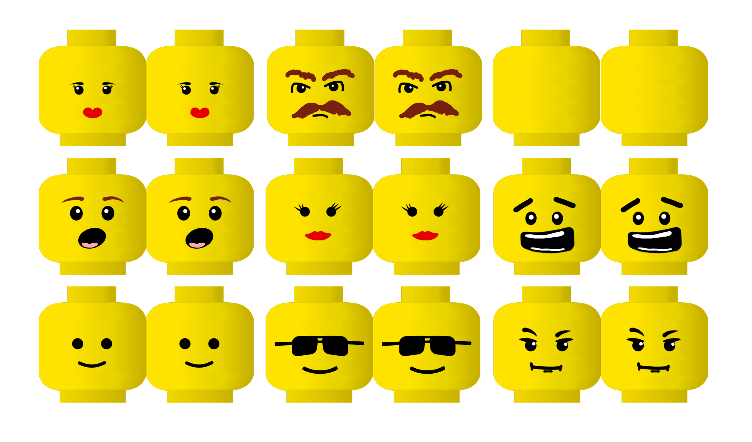 Lego face with sun glasses clipart clipart stock LEGO Printable Activities | ... like it for your Lego party (click ... clipart stock