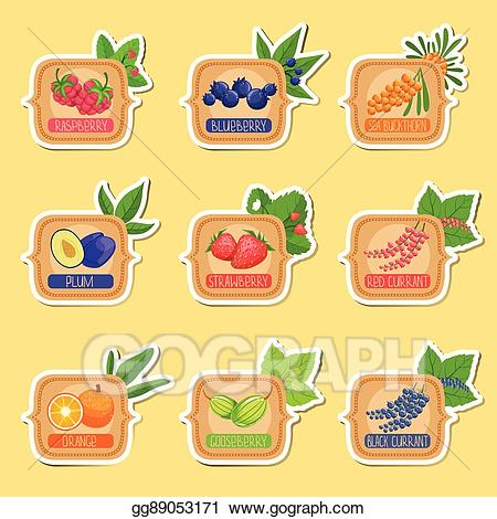Homemade jam labels clipart svg freeuse library Vector Clipart - Jam label sticker collection of templates in square ... svg freeuse library