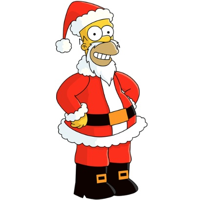 Homer simpson with santa hat clipart png free stock Homer Simpson\'s View Of Santa   Shane Cradock png free stock