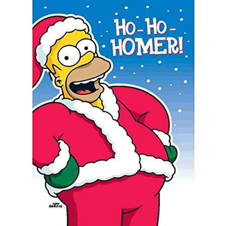 Homer simpson with santa hat clipart jpg transparent stock Homer Simpson Christmas Sound Card: Amazon.co.uk: Kitchen & Home jpg transparent stock