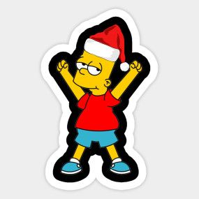 Homer simpson with santa hat clipart png black and white library Bart Simpson Santa Hat Ugly Christmas Day - Bart Simpson Santa Hat ... png black and white library