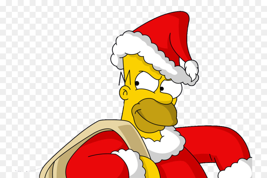 Homer simpson with santa hat clipart freeuse stock Santa Claus Cartoon png download - 800*600 - Free Transparent Homer ... freeuse stock